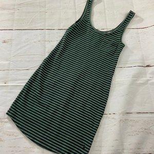 Jack Wills Green gray striped mini tank dress